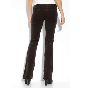 AG Angel Boot Cut Stretch Corduroy Pants, Brown